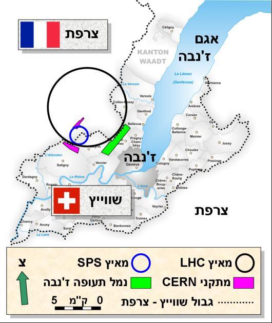 מפת אזור הניסוי